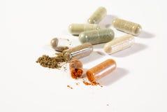 Píldoras herbarias Imagenes de archivo