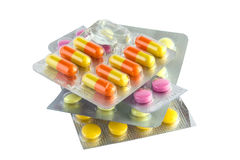 Píldoras médicas Fotos de archivo libres de regalías