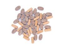 Píldoras naturales del suplemento de la vitamina Imágenes de archivo libres de regalías