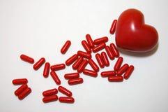 Píldoras para el corazón Imagen de archivo libre de regalías