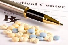 Píldoras prescritas Fotografía de archivo libre de regalías