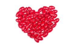 Píldoras rojas Imágenes de archivo libres de regalías