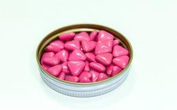 Píldoras rosadas Fotos de archivo libres de regalías