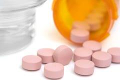 Píldoras rosadas Foto de archivo