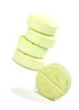 Píldoras verdes de la medicina Foto de archivo libre de regalías