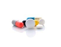 Píldoras y cápsulas Fotografía de archivo