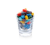 Píldoras y cápsulas Imagen de archivo libre de regalías