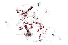 Píldoras y candys Fotografía de archivo libre de regalías