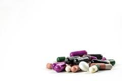 Píldoras y drogas Imagenes de archivo