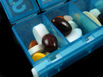 Píldoras y medicinas Imágenes de archivo libres de regalías