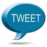 Pío social de los medios de Twitter Imagen de archivo libre de regalías