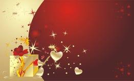 półdupki boksują dekoracyjnego dzień prezent valentine Zdjęcie Royalty Free