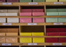 Półka mydło w sklepie Obraz Stock