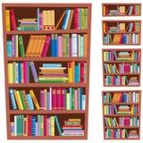 półka na książki ilustracja wektor