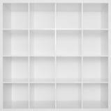 półka na książki drewniany pusty biały Obrazy Stock