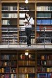 półka na książki kobieta frontowa stara czytelnicza zdjęcie stock