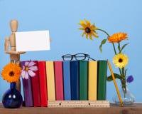 Półka na książki przygotowania fotografia royalty free