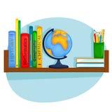 Półka na książki uczeń Zdjęcie Royalty Free
