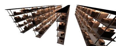 półka składowania zapasów ilustracja wektor