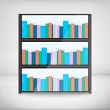Półki z kolorowymi książkami Obrazy Royalty Free
