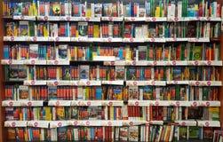 Półki z książkami, półka na książki obraz stock