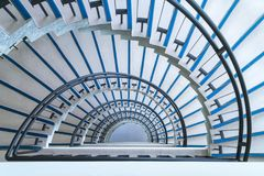 Półkole ślimakowatego schody zbliżenie zdjęcia royalty free