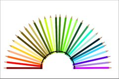 Półkole kredki - kolor gra ilustracja wektor