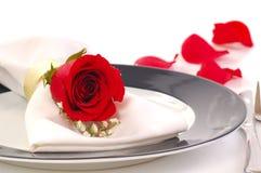 półkowa dniner czerwień wzrastał Zdjęcie Royalty Free