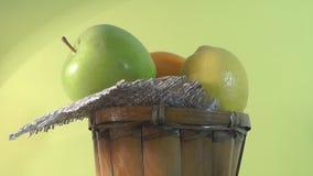Półkowa piękna owoc, zdrowy jedzenie zdjęcie wideo