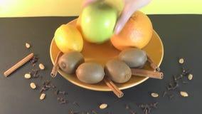 Półkowa piękna owoc, zdrowy jedzenie zbiory