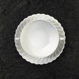 półkowej porcelany zupny biel Zdjęcie Royalty Free