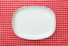 półkowy półmiska porcja biel zdjęcia stock