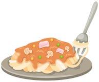 półkowy rozwidlenie spaghetti Zdjęcie Stock