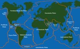 Półkowych tektonik Faultlines niemiec royalty ilustracja