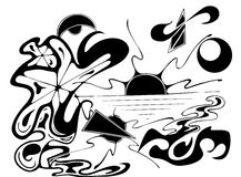 półmrok ilustracji