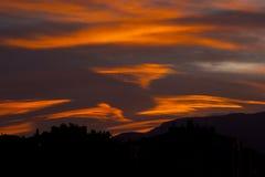 Półmrok chmury i niebo fotografia stock