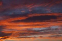 Półmrok chmury i niebo obraz royalty free
