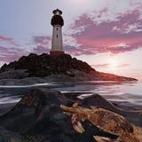 półmrok latarnia morska ilustracja wektor