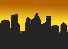 półmrok Minneapolis ilustracja wektor