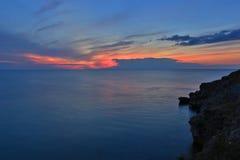 Półmrok na morzu fotografia royalty free