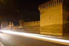 Półmrok na ramparts Avignon, Provence, obraz stock