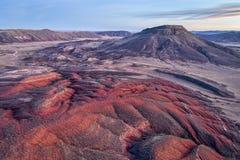 Półmrok nad Kolorado pogórzami zdjęcie royalty free