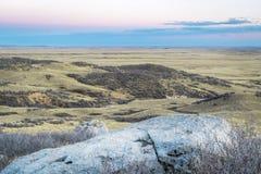 Półmrok nad prerią w północnym Kolorado fotografia royalty free
