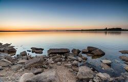 Półmrok przy Colliford jeziorem zdjęcie stock