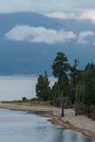Półmrok przy jeziornym Brunner fotografia stock