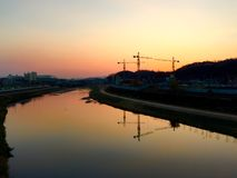 Półmrok rzeka obrazy royalty free