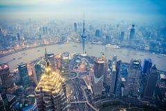 Półmrok scena w Shanghai zdjęcie royalty free