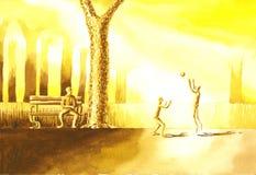 Półmrok siatkówki gry royalty ilustracja