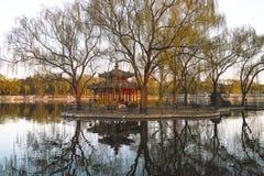 Półmrok w Chińskim parku zdjęcia stock