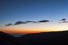 Półmrok w Ekwadorskich Andes fotografia stock